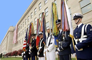 Pentagon 9/11 memorial service, September 11, 2008 - Photo credit: UPI