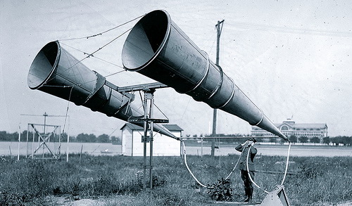 Early aircraft listening device, Bolling AFB 1921