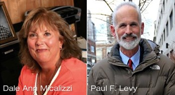 Dale Ann Micalizzi (L) and Paul F. Levy (R)  - Healing Hospitals - F. Nicholas Jacobs, FACHE