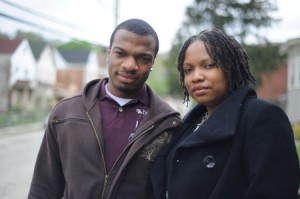 CAPA student Jordan Miles and his mother, Terez