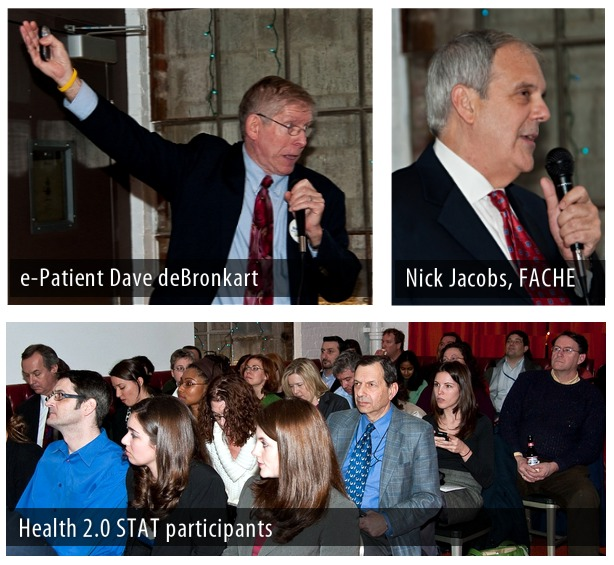 e-Patient Dave de Bronkart, Nick Jacobs, FACHE, Health 2.0 DC STAT meetup #health2stat