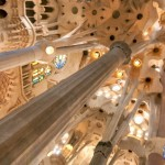 Interior of La Sagrada Familia basilica